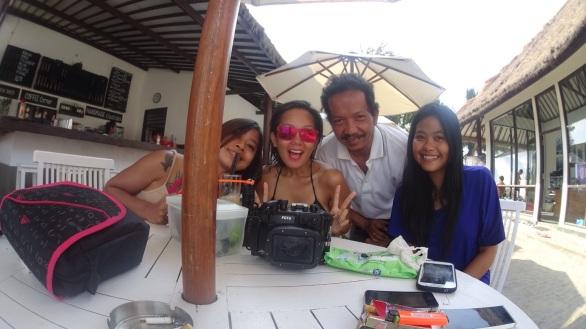 With Maurina, Lolo and Lysistrata at Diversia